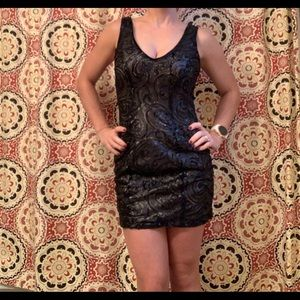 NWT Black sequin cocktail dress